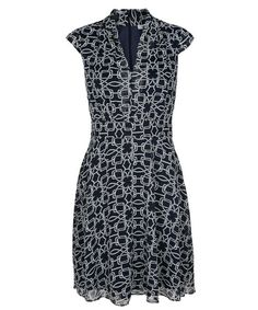 This shawl collar dress features a classic fit and flare silhouette with cap sleeves. We love the unique interlocking geometric shapes on this sheer layered print. Ricki's Clothing, Dresses For Sale, Dresses For Work, Fabulous Dresses, Collar Dress, Fit And Flare, Cap Sleeves, Fashion Dresses, Shawl