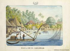 Fishing with the Sarambao, a drawing by José Honorato Lozano Manila, Philippine Architecture, Philippine Art, Outrigger Canoe, Fishing Lights, Philippines Culture, Filipino Culture, Cultural Significance, Filipiniana