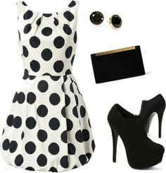 I love black and white. Nice outfit