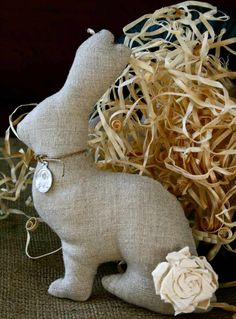 deco-Paques-lapin-tissu-décortif