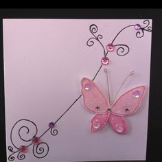 Homemade card - Beautiful Butterfly's