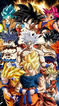Goku - All Forms, Dragon Ball Super Dragon Ball Gt, Dragon Ball Image, Goku All Forms, Wallpaper Do Goku, Dragonball Goku, Foto Do Goku, Son Goku, Animes Wallpapers, Social Community