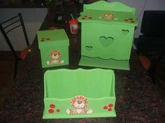 set portacuentos,pañalera,caja 17x17