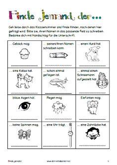 Aktivitäten für den ersten Schultag nach den Ferien
