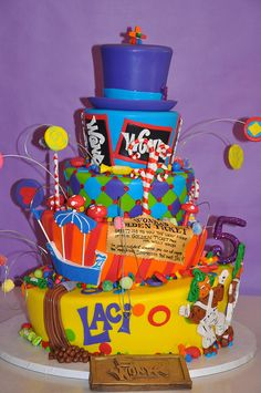 Willy Wonka Birthday Party.  The cake?  Unreal!