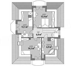 Projekt domu Ariadna III 135,2 m2 - koszt budowy 187 tys. zł - EXTRADOM The Plan, How To Plan, Civil Construction, House Design Pictures, House Plans, Floor Plans, House Styles, Home Decor, Dreams