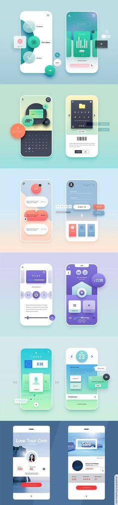 Mobile App Design, Android App Design, Ios App Design, User Interface Design, Mobile Ui, Flat Design, Interaktives Design, Layout Design, Webdesign Layouts