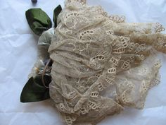 Victorian Lace Head covering from the hat collection at Bankfield Museum Halifax