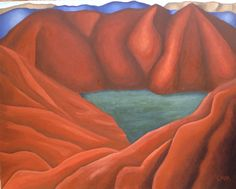 """""""Natural Formations"""" 4 foot by 5 foot Acrylic on Canvas"""