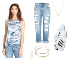 """""""✌️ #relax"""" by camille-cizmic on Polyvore featuring mode, Current/Elliott, Genetic Denim, Wanderlust + Co et adidas"""