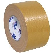 3 Inch Wide Roll of Beige Colored Duct Tape. 3 Inch Wide Roll of Light Brown Colored Duct Tape