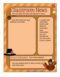 Dr. Seuss Newsletter Template | classroom deco ideas | Pinterest ...