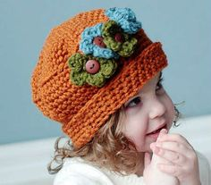 Cloche with button flowers