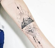 Mountain tattoo by John Monteiro