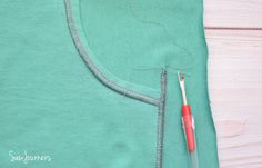 add flat lock stitching detail to your garments