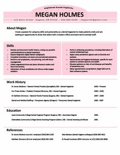 Dental Hygiene Resume Template Get This And Other Extra Cool Resume Templates That You Can
