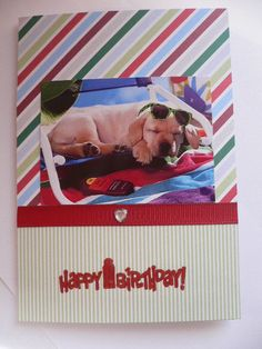 ON SALE Labrador puppy GREETINGS dog Card handmade dog lover card Happy Birthday Congratulations Thanksgiving dog notecard notelet by CardsgaloreUK on Etsy