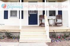All Decked Out: A Porch-tastic DIY Makeover! (Part One) - How to Organize | wood porch over concrete