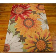 Nourison South Beach Sunflower 10 ft. x 13 ft. Indoor/Outdoor Area Rug-172457 - The Home Depot