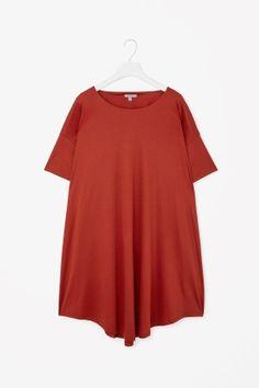 Curved-hem jersey dress