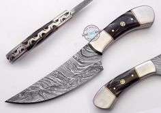 "8.50"" Custom Made Beautiful Damascus Steel Skinning hunting Knife (994-2) #UltimateWarrior"