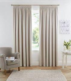 cream pencil pleat curtains - Google Search