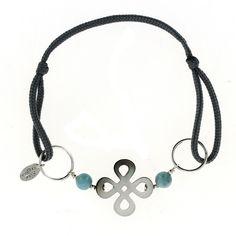 Bracelet Croix en Nacre et Larimar - Blue Stone