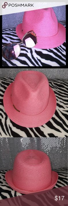 POSH CORAL PINK FEDORA STYLE HAT For the fashion boss in you! Yup, this hat will forever be stylish. Gently loved, in great condition. Enjoy Accessories Hats