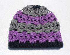 Creepy crocheted skull hat