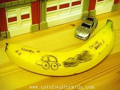 Playing with your food. Write a message with a toothpick on a banana and it revels itself minutes later.