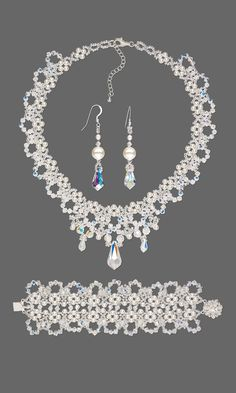 Jewelry Design - Collar-Style Necklace, Bracelet and Earring Set with Swarovski Crystal and Seed Beads - Fire Mountain Gems and Beads