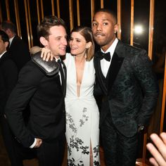 Jamie Bell, Kate Mara, and Michael B. Jordan at Yahoo Style's Met Gala After Party. See all the outfits at the Met gala after parties.