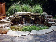 waterfall pond patio