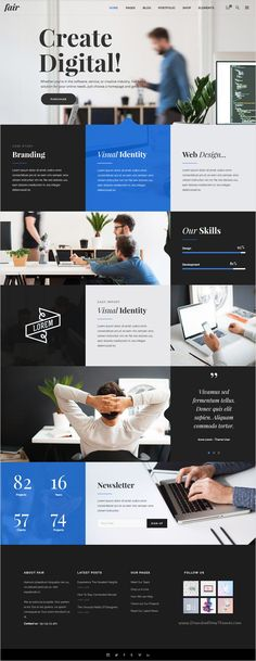 Fair is fresh and modern multipurpose #WordPress #template for responsive #startup business and individuals website with 24+ amazing homepage layouts download now➩ https://themeforest.net/item/fair-a-fresh-multipurpose-theme-for-creative-businesses-individuals/16819243?ref=Datasata