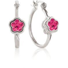 Fushia BFlower Hoop Earrings for Girls from www.thejewelryvine.com