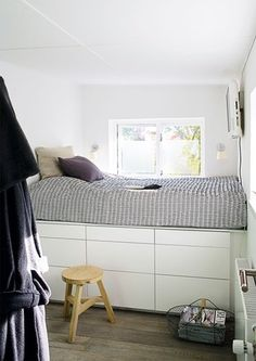 Bed with storage @boligmagasinet