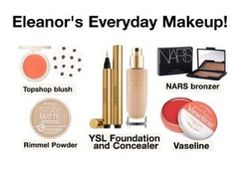Go to YouTube and search Tanya Burr's Natural Everyday make up tutorial! It was inspired by Eleanor. She texted her and asked what makeup Eleanor likes to use. It was a great video!