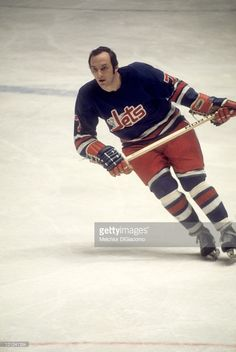 Fran Huck #7 of the Winnipeg Jets skates on the ice during an WHA game circa 1977.
