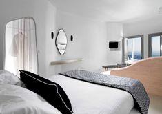 Tholos Resort SantoriniΣαντορίνη2016 - 2017ΙδιώτηςΟλοκληρώθηκε535 τ.μ. Design Suites, Villa Design, Santorini Suites, Indoor Jacuzzi, Honeymoon Suite, Hotel Interiors, Interior Design, Bed, Vulnerability