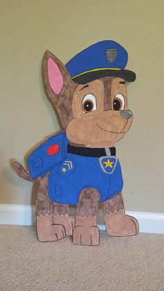 (1) Paw Patrol painted cutouts. Birthday party / room decoration ebay $10