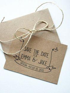 Invitaciones de boda estilo rústico