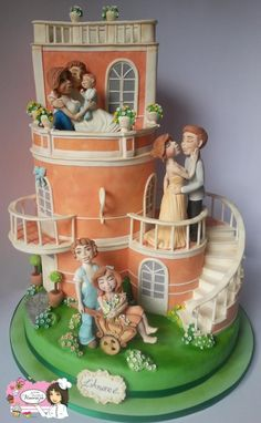 Love is... A wedding Cake that can't say enough in words ( but it really really tries though!!)