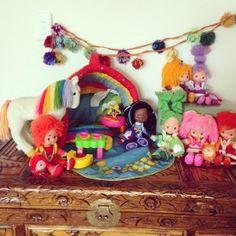 First generation Rainbow Brite dolls #rainbowbrite #80stoys #rainbow