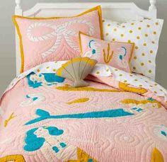 Fairy Tail Bedding $189.00 - $219.00 Mermaid www.KidsCottonBedding.com