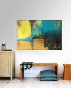"""Large Abstract Schilderij - Brown naturals - Acrylic painting - 31,5"""" x 47,2"""" - Free Worldwide Shipping"""