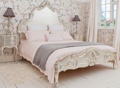 French country bedroom furniture bedding ideas, In french country bedrooms you'll find vintage bedroom sets and headboards like this replica of a sophia bed from the bella cottage. Description from bfz.biz. I searched for this on bing.com/images