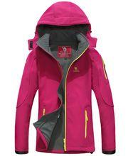 2016 Spring Women Windstopper Hiking Jacket Brand Fleece Softshell Jacket Women Windproof Waterproof Hiking Camping Ski Cycling
