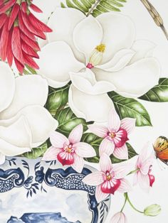 Detail of Kelly Higgs Original Painting Detail von Kelly Higgs Originalgemälde Watercolor Flowers, Watercolor Paintings, Original Paintings, Art And Illustration, Botanical Drawings, Botanical Prints, Art Floral, Sibylla Merian, Hand Drawn Flowers