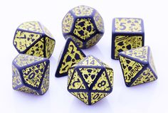 Nuke Dice (Black Yellow) RPG Role Playing Game Dice Set