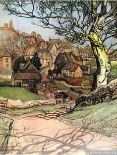 Sydney R. Jones, The Village Homes of England, 1912.  Like the use of shadows.